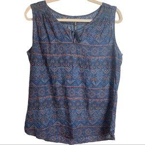 Kuhl Flora Tank Slate Blue Cotton Silk Size Medium